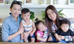"""Mới ngày nào còn giành giật ngôi """"Thị hậu"""" giờ Hồ Hạnh Nhi và Chung Gia Hân đều trở thành mẹ bỉm đích thực"""