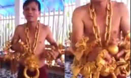 'Truyền nhân của Phúc XO' gây sốt với trang sức khủng làm từ 40kg vàng