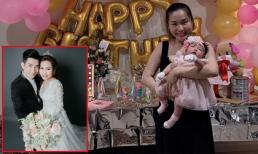 Chồng cũ Phi Thanh Vân tổ chức tiệc đầy tháng hoành tráng cho con gái thứ 4