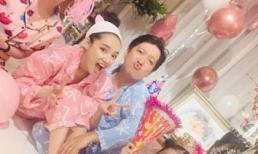 Dịp sinh nhật, vợ chồng Trường Giang - Nhã Phương mặc đồ ngủ siêu dễ thương
