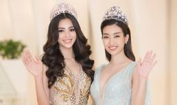 Hoa hậu Đỗ Mỹ Linh và Tiểu Vy đọ nét yêu kiều, bắt tay đi tìm người kế nhiệm 'tấn công' Miss World