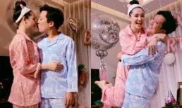 Hình ảnh danh hài Trường Giang ôm hôn, bế bổng bà xã Nhã Phương trong tiệc sinh nhật tại gia khiến nhiều người ghen tỵ