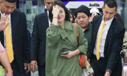 Vừa bị chê xuề xòa, Song Hye Kyo đã biến hình xuất sắc với tóc ngắn, vẫn tiếp tục lấy áo khoác che bụng