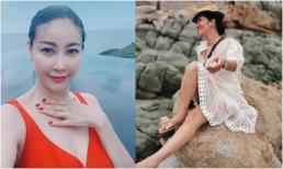 Hoa hậu Hà Kiều Anh lại rủ rê mẹ con diva Hồng Nhung 'đi xõa' Ninh Thuận