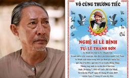 Thông tin chính thức về tang lễ của nghệ sĩ Lê Bình