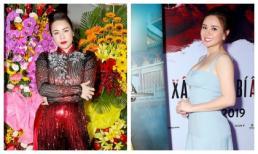 Nhật Kim Anh diện áo dài đỏ chót, Vy Oanh khoe vòng một căng đầy