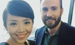 Tóc Tiên đăng ảnh chụp cùng 'Captain American' Chris Evans khiến dân tình nhốn nháo