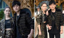Xuất hiện ở kinh đô thời trang Paris, vợ chồng Châu Kiệt Luân - Côn Lăng lại 'chặt chém' dàn khách mời VIP