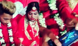 Cô dâu ngán ngẩm vì chú rể không dừng tay chơi game trong hôn lễ