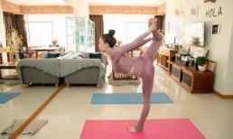 Khoe ảnh tập yoga, Trà Ngọc Hằng vô tình hé lộ không gian sống của mình và con gái