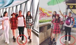 Mặc vợ con ăn mặc đẹp, Quyền Linh vẫn đi dép tổ ong khi du lịch ở Quảng Châu