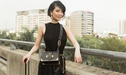 Cựu siêu mẫu Vũ Cẩm Nhung phối đồ hiệu 'cực chất' ở sân bay