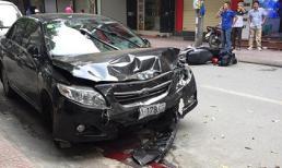Lại xuất hiện 'xe điên' gây tai nạn liên hoàn ở Hà Nội, 2 mẹ con nguy kịch