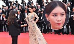 A hoàn trong 'Diên Hi công lược' giả điếc khi bị 'đuổi khéo' trên thảm đỏ Cannes ngày đầu