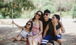 Xuýt xoa trước loạt ảnh gia đình hạnh phúc của vợ chồng Hoàng Bách cùng các con trên đảo hoang