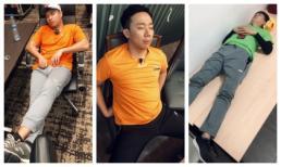 BB Trần 'bá đạo' tung loạt ảnh chụp lén khoảnh khắc ngủ mê mệt của đồng đội 'Chạy đi chờ chi'