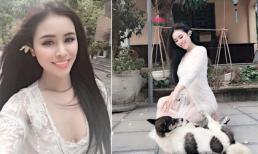 Thư Dung bị 'ném đá' vì mặc váy ren phản cảm khi đi chùa