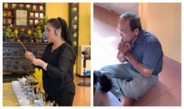 NSND Hồng Vân u buồn thắp hương, bố cố nghệ sĩ Anh Vũ lặng lẽ tụng kinh tại lễ 49 ngày của con