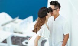 Lê Hà cùng chồng đi tận hưởng tuần trăng mật ở Santorini