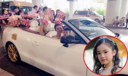 Chân dung cô bé đăng Hoa hậu Hoàn Vũ nhí được đón bằng siêu xe dát vàng - Bảo Anh