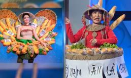 Việt Hương hài hước tái hiện lại bộ quốc phục Bánh Mì của Hoa hậu H'Hen Niê