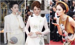 Đối nghịch với bộ cánh Ngọc Trinh, đây là những trang phục đậm sắc truyền thống tại Cannes