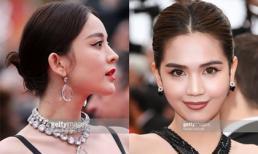 Cận cảnh nhan sắc của mỹ nữ Tân Cương cùng xuất hiện trên thảm đỏ LHP Cannes khiến Ngọc Trinh bị nhận nhầm