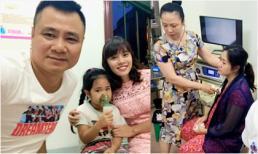 Con gái Tự Long sốt 39 độ, phun hết thức ăn và sữa vào người bác sĩ khi đi khám