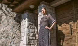 Hoa hậu Hà Kiều Anh diện áo dài khoe dáng giữa phố cổ Hàn Quốc