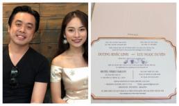 Hé lộ thiệp cưới và yêu cầu cho khách mời dự tiệc của Dương Khắc Linh - Sara Lưu