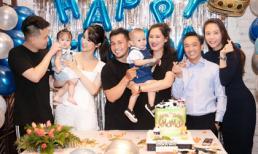 Vợ chồng Diệp Lâm Anh, Đàm Thu Trang tham dự tiệc sinh nhật của con trai Pông Chuẩn
