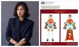 Ngô Thanh Vân phản ứng khó đỡ khi xem bản phác thảo tuyển chọn trang phục dân tộc cho Hoàng Thùy