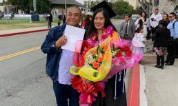 Lê Tuấn Anh nhắn gửi tới con gái riêng của bà xã Hồng Vân: 'Ba hãnh diện về con'