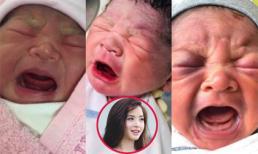 Hải Băng đăng ảnh ba con khi mới chào đời và đố fan 'tìm nét khác nhau'