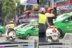 Đỗ xe sai luật khi dừng đèn đỏ còn lớn tiếng với tài xế taxi, 2 người phụ nữ nhận cái kết đắng
