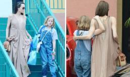 Chỉ đi mua sắm cùng con gái, Angelina Jolie được ví như nữ thần Hy Lạp gợi cảm