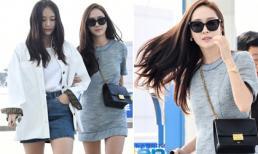 Cặp chị em Jessica – Krystal diện đồ hiệu, xuất hiện giản dị nhưng đầy sang chảnh ở sân bay