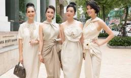 Những mĩ nhân đình đám một thời: Hà Kiều Anh, Giáng My, Thanh Mai xinh như hoa như ngọc trong một khùng hình