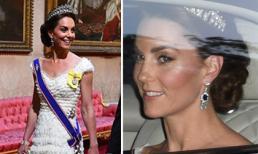 Vắng em dâu, Kate xúng xính váy hiệu, đeo bông tai kim cương trong yến tiệc đón Tổng thống Trump nhưng lại gây phản ứng trái chiều