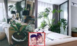 Không gian ngập tràn sắc xanh bên trong căn hộ của vợ chồng Lê Thúy - Đỗ An