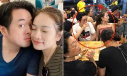 Vợ chồng Dương Khắc Linh bị fan chụp lén khi đi du lịch cùng gia đình