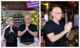 Dù đã chia tay 5 năm, chồng Tây của Phi Thanh Vân vẫn đến viếng bố vợ với ngoại hình bất ngờ