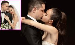 Siêu mẫu Phương Mai tung bộ ảnh cưới lung linh, khoá môi ông xã cực ngọt ngào