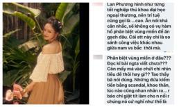 Chuyện hi hữu: Bị anti - fan kiếm chuyện công kích, Lan Phương được cư dân mạng cật lực bênh vực