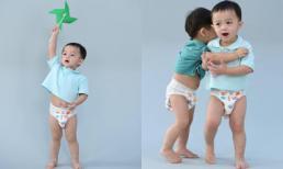 Mặc bỉm nghịch chong chóng, cặp song sinh của 'mỹ nhất đẹp nhất Thái Lan' gây sốt toàn mạng xã hội