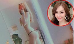 Linh Chi gây bão với bức ảnh mặc độc quần lót, lấy tay che ngực trần