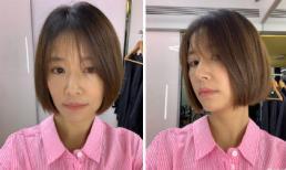 """Vốn quen thuộc với hình ảnh tóc dài duyên dáng, Lâm Tâm Như bất ngờ """"xuống tóc"""" vì lý do đặc biệt"""
