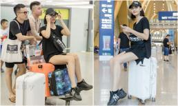 Hồng Quế khoe chân dài miên man ở sân bay, sang Trung Quốc trình diễn thời trang