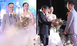 Đám cưới MC Phí Linh: Chú rể hạnh phúc nắm tay cô dâu tiến vào lễ đường