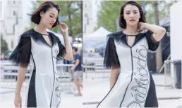 Siêu mẫu Hồng Quế catwalk nổi bật giữa dàn model Trung Quốc